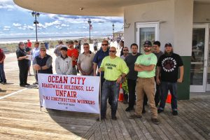AMag 9837 300x200 - Trades protest non-union construction on Boardwalk in Ocean City