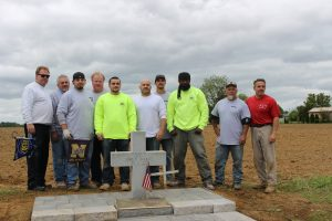 IMG 5566 300x200 - Bricklayers Local 5 and Ironworkers  Local 399 build monument to local hero