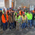 Union Labor constructing the new Trenton High School. Group pic of Plumbers and Pipefitters of Local 9