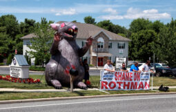 Protest at a Rothman Facility on Greentree Road in Sewell, NJ bu local 351 IBEW members as part of the South Jersey Building trade association.