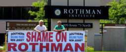 Protest at a RothmanInstitude on Rt 73 on Marlton, NJ by  local 255 carpenters as part of the South Jersey Building trade association.